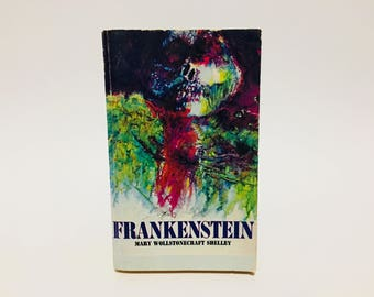 Vintage Horror Book Frankenstein by Mary Shelley 1967 Scholastic Edition Paperback