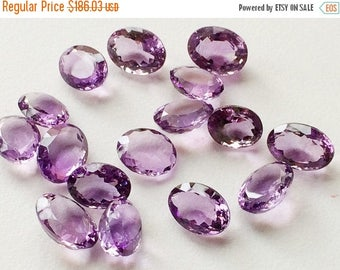 ON SALE 50% WHOLESALE 10 Pieces, 66 Ctw Amethyst Cabochon Lot, Oval Cut Faceted Amethyst, 12-15mm, Loose Amethyst Beads, Purple Beads