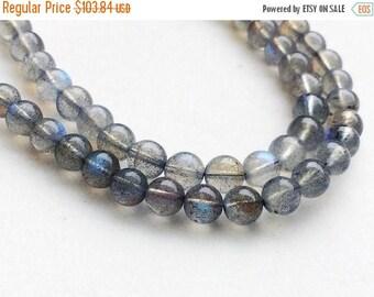 ON SALE 55% Labradorite Beads, Labradorite Plain Round Balls, Blue Fire Gemstone, Labradorite Necklace, 6-6.5mm, 8 Inch, 33 Pcs - KRS216