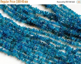 ON SALE 50% WHOLESALE 5 Strands Neon Apatite Chips, Neon Apatite Beads, Natural Neon Apatite Chips, Apatite Necklace, 4-6mm, 32 Inch - Rama7