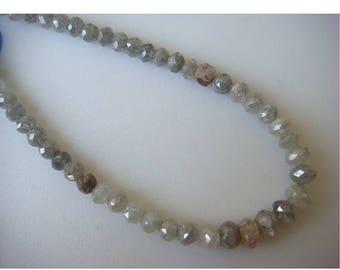 ON SALE 55% Diamond Beads, Rough Diamonds, Natural Diamonds, Raw Diamond Faceted Beads, 10 Beads, Approx 3mm Each