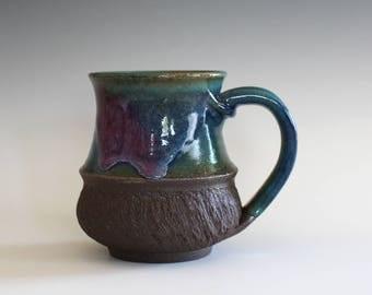 Pottery Mug, 12 oz, unique coffee mug, handmade ceramic cup, handthrown mug, stoneware mug, wheel thrown pottery mug, ceramics