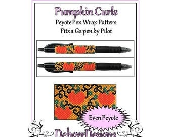 Bead Pattern Peyote(Pen Wrap/Cover)-Pumpkin Curls