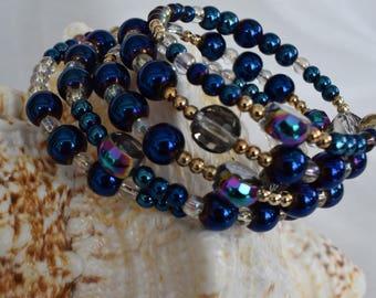 Boho Style Wrap Bracelets Coil Bracelets Multi beaded glass beaded bracelet
