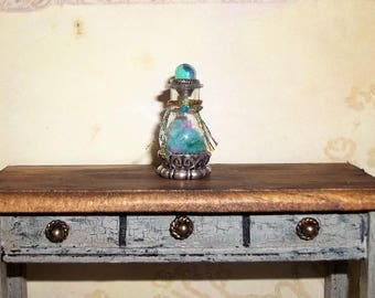 "Dollhouse Miniature Potion Bottle Jar ""Mermaid Scales"""
