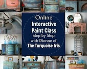 April 15 Paint Class Online and Step by Step Instruction #dotheDionne