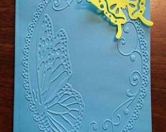 Blank butterfly card