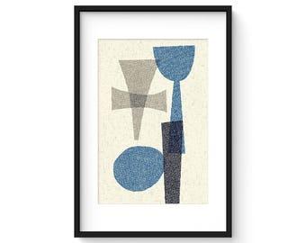OFFSET no.15 - Giclee Print - Mid Century Modern Contemporary Modern Abstract Modernist Art
