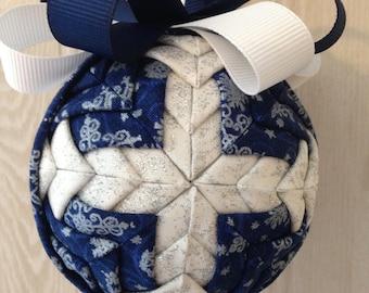 Winter Cross Fabric Ornament