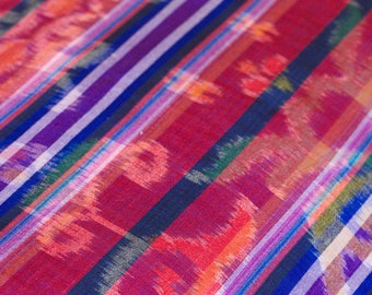 Balinese ikat  - soft cotton handwoven textile for scarf, table cloth, bed runner or wall decoration