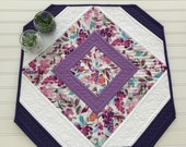 Quilted Table Topper Octagon Table Quilt Special Order for Debbie