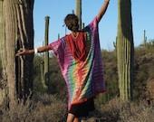 Experimental Rainbow Cloak Kaftan - Tie Dye Rainbows Every Day - Dance Play Romp Frolic
