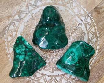 Malachite polished freeforms