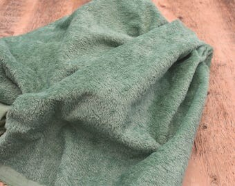 1/8 Metre Hand Dyed Viscose Antique Green