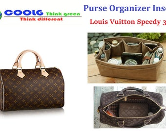 Purse organizer insert for LV Speedy 30 Made to order Faux Suede Coffee