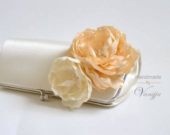 Ivory, Vanilla - Bridal Clutch / Bridesmaid clutch / Wedding clutch / Prom clutch / Custom clutch