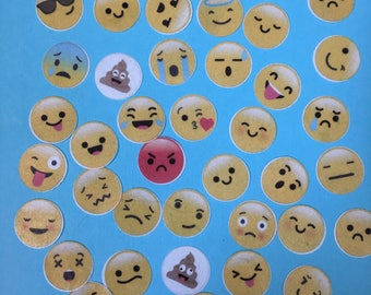 """4 DOZ 1"""" EMOJI edible image wafer papers for your iced cookies, cupcakes, cakes and chocolates"""