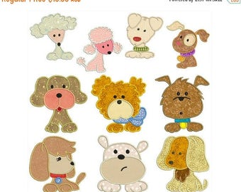 ON SALE DOGS - Machine Applique Embroidery - Instant Digital Download