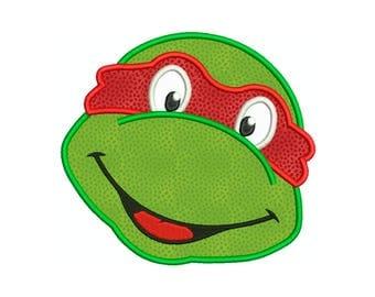 LEGO TMNT Teenage Mutant Ninja Turtle Raphael Superhero * Machine Applique Embroidery - Instant Digital Download