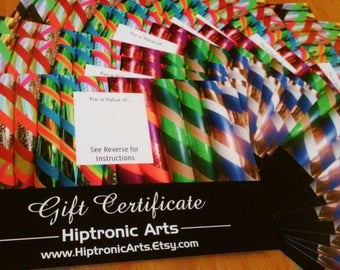 Hiptronic Arts Gift Certificate! Give the Gift of Hoop Dance! <3