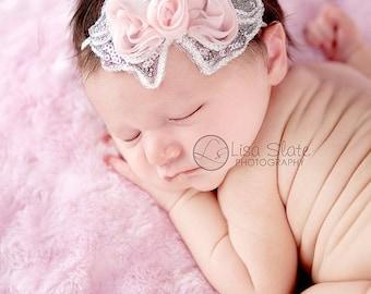 12% off Baby headband, newborn headband, adult headband, child headband and photography prop The single sprinkled- SEQUIN bow  headband