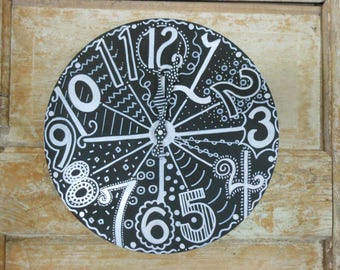 """Whimsy Working CLOCK for a fun teacher's classroom or home  Custom Order 12'-16"""""""