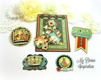 Graphic 45 Enchanted Forest Handmade Paper Embellishments for Scrapbook Layouts Cards Mini Albums Tags and Papercrafts