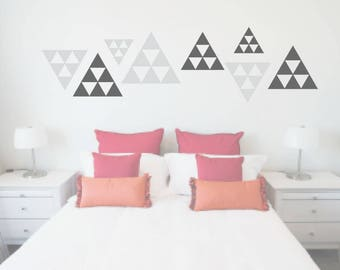 Triangle Decals, Abstract Triangle, Geometric stickers, Living Room Decor, Triangle Wall Art, Dorm Walls, Apartment Decor, Geometric decor