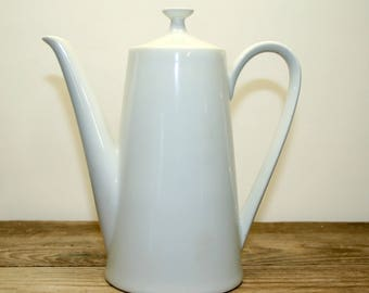 Vintage, Schonwald, Fairwood, Coffee/Teapot, White Porcelain, Retro Kitchen Mod Modern Mid Century