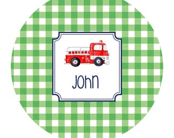 Personalized Melamine Plate, Personalized Plate, Personalized Child's Plate, Personalized Boys Plate,