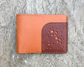 Tri Leather Wallet - Two Tone #2 - slim wallet - simple wallet - mens leather wallet - leather goods - gifts for men - cool mens wallets