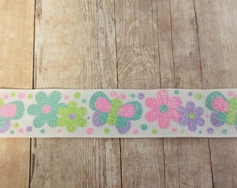 Flowers and Butterflies Ribbon