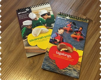 Girl Scout Cookies Notebook, Savannah Smiles, Tagalongs, Recycled Spiral Bound Notebooks, Cookies, Jotter