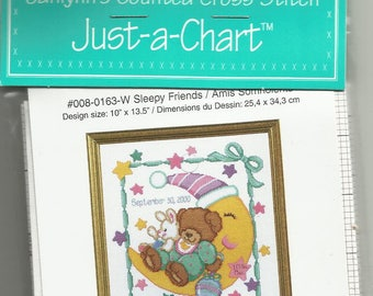 Sleepy Friends Just-A-Chart By Janlynn