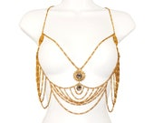 Vintage Body Chain, Stunning, Rare, Highly Collectible, Egyptian Revival, Boho, Body Jewelry, Signed Hobé