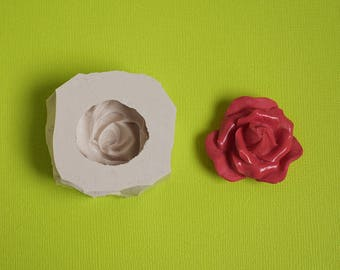 Moule silicone fleur rose pour loisirs créatifs bougie décoration