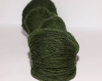 1 ply Kauni Wool Yarn 8/1, Self-Striping Color Green