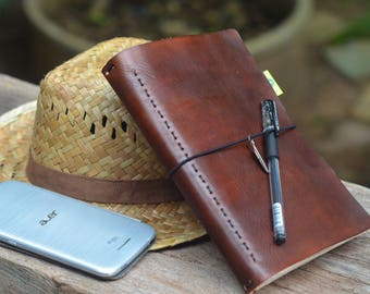 A5 Travellor's Notebook / Midori / Journal / Leather / Refill / Trending Now...