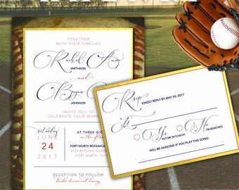 chic baseball wedding invitation - Baseball Wedding Invitations
