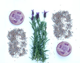 Lavender Natural Loofah Exfoliating Glycerin Soap