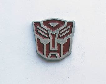 Hand Cast Transformer Autobot Lapel Pin