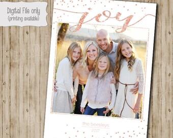 Photo Christmas Card, Holiday Card, Personalized Christmas card, Photo holiday card, Merry Christmas, Joy, Cheer, Printable