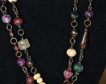 Unique One of A Kind Handmade~ Long Statement Necklace~ Necklace