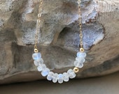 Moonstone Necklace Gold or Silver, Gold or Silver Moonstone Necklace, Rainbow Moonstone,Moonstone Jewelry June Birthstone, Celestial