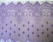 "July4th Sale 9"" Wide Lilac Floral Nylon Lace Trim Bridal Wedding Eyelash Victorian Style Leaver Scalloped for Lingerie FJT S128"