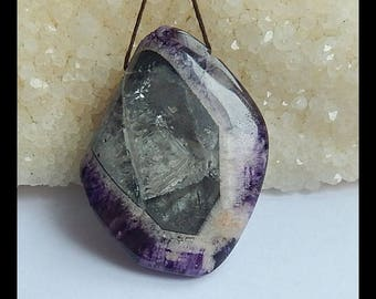 New Arrival!! Drusy Amethyst Gemstone Pendant Bead,Amethyst With Quartz,Natural Stone,47x35x16mm,28.5g(s0296)