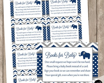 Navy and gray baby shower book instead of a card, chevron book insert, navy and grey, navy and gray baby shower,  EOBGN INSTANT DOWNLOAD