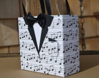 Music tuxedo party favor bag