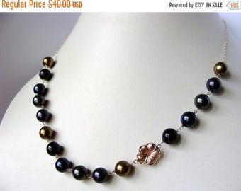 Mystery Swarovski Crystal Pearl 14k Gold Filled Necklace