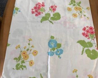 Retro vintage mid century modern mod standard pillowcase floral
